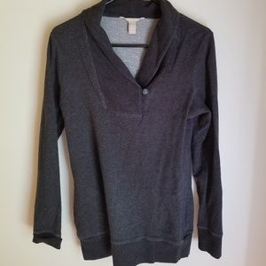 % Banana Republic Lightweight Collared Sweatshirt
